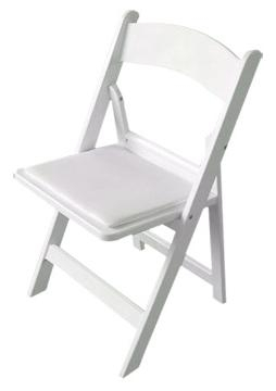 Padded Folding Chairs White Wedding