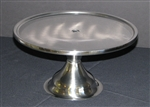 Stainless Pedestal Cake Plate